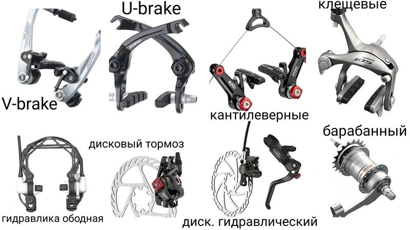 Виды тормозов для велосипеда